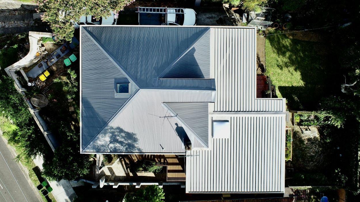 Corrugated & Kliplok Combination Roofing