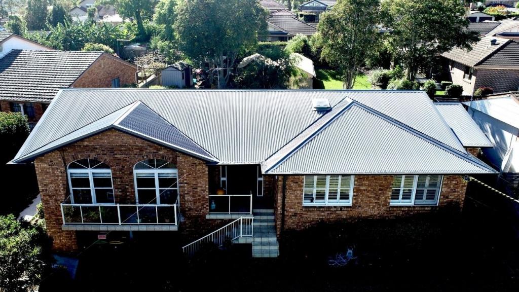 Baslat corrugated colorbond metal roof installed in Eastwood Sydney
